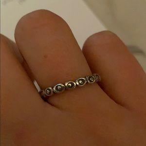 Pandora rose bud ring silver size 8